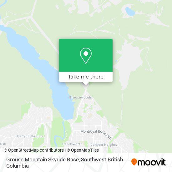 Grouse Mountain Skyride Base map