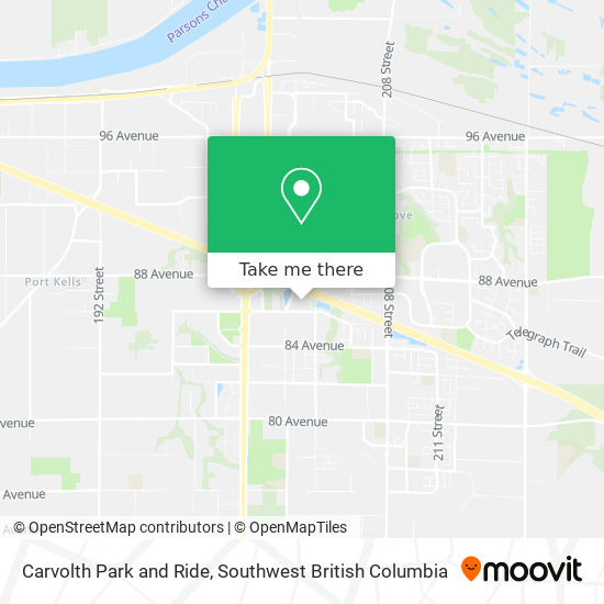 Carvolth Park And Ride map