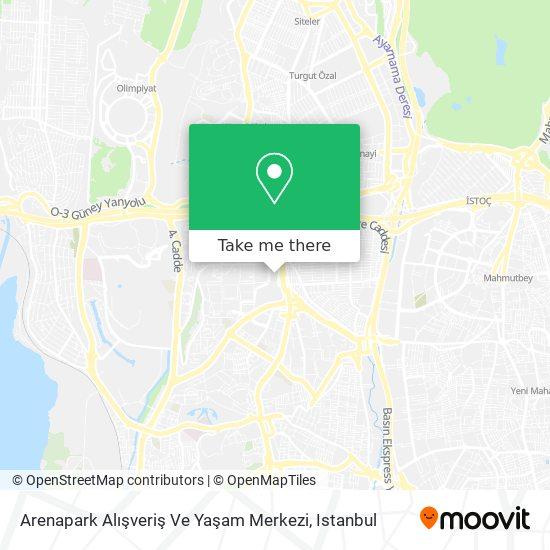 Arenapark Alışveriş Ve Yaşam Merkezi map