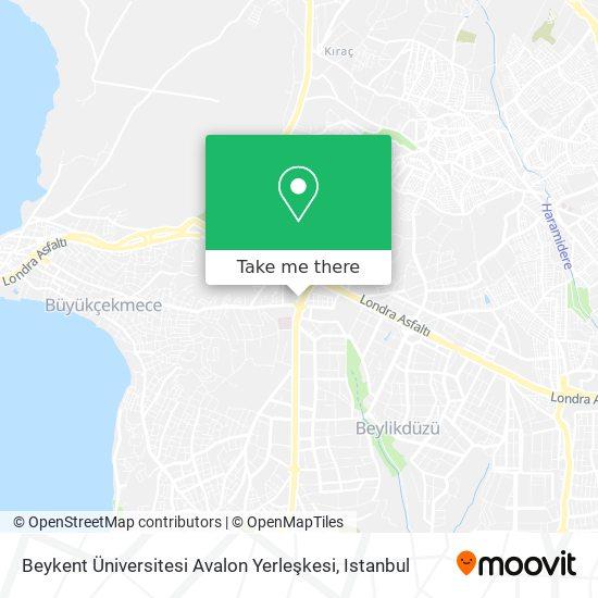 Beykent Üniversitesi Avalon Yerleşkesi map