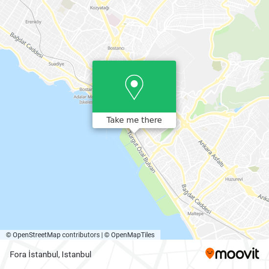 Fora İstanbul map