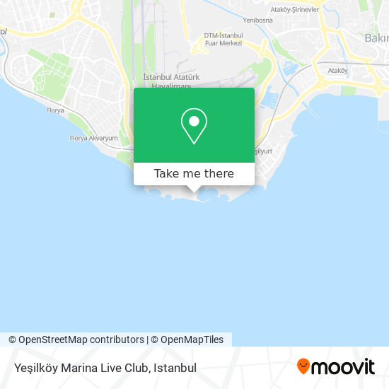 Yeşilköy Marina Live Club Karte