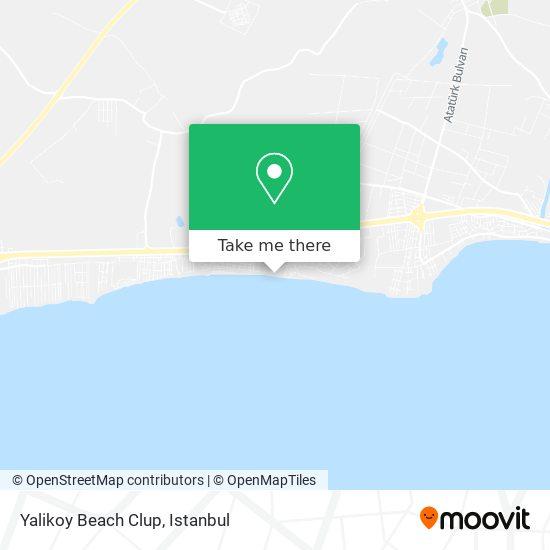 Yalikoy Beach Clup Karte