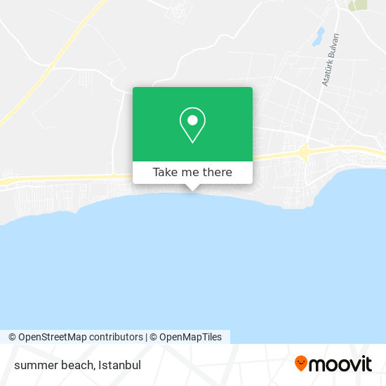 summer beach Karte