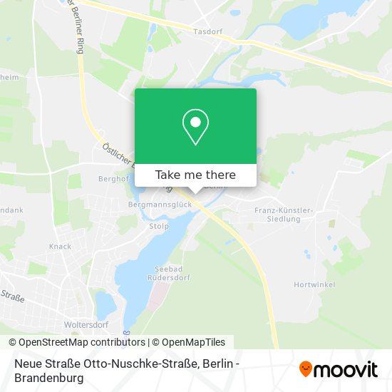 Mapa Neue Straße Otto-Nuschke-Straße