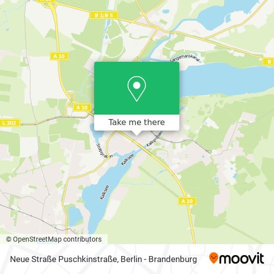 Mapa Neue Straße Puschkinstraße
