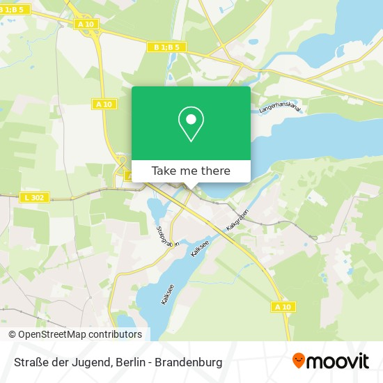 Straße der Jugend map