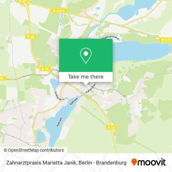 Mapa Zahnarztpraxis Marietta Janik