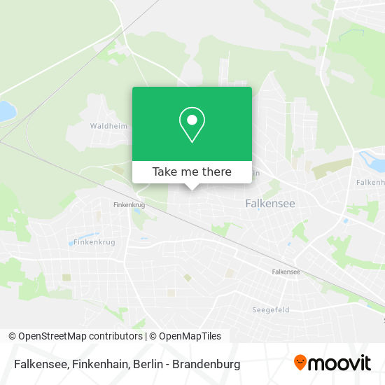 Falkensee, Finkenhain map