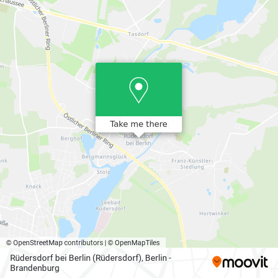 Mapa Rüdersdorf bei Berlin