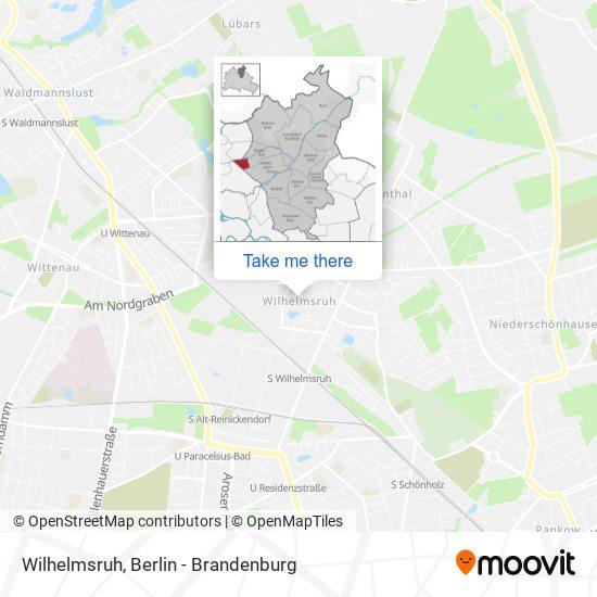 Mapa Wilhelmsruh