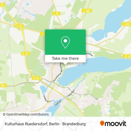 Kulturhaus Ruedersdorf map
