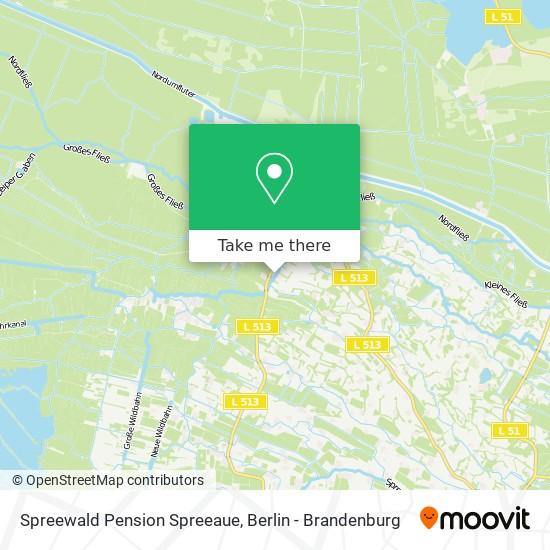 Карта Spreewald Pension Spreeaue