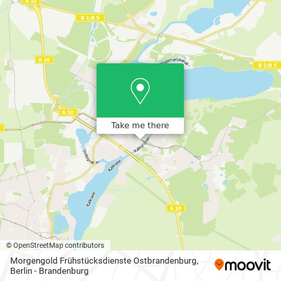 Mapa Morgengold Frühstücksdienste Ostbrandenburg