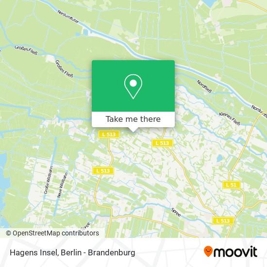 Карта Hagens Insel