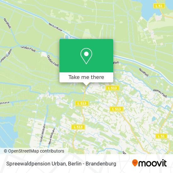 Карта Spreewaldpension Urban