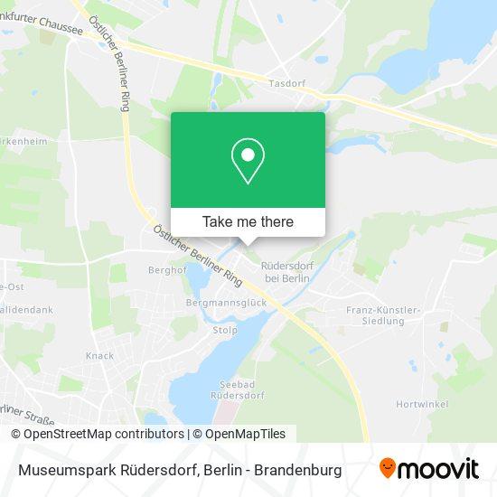 Museumspark Rüdersdorf map