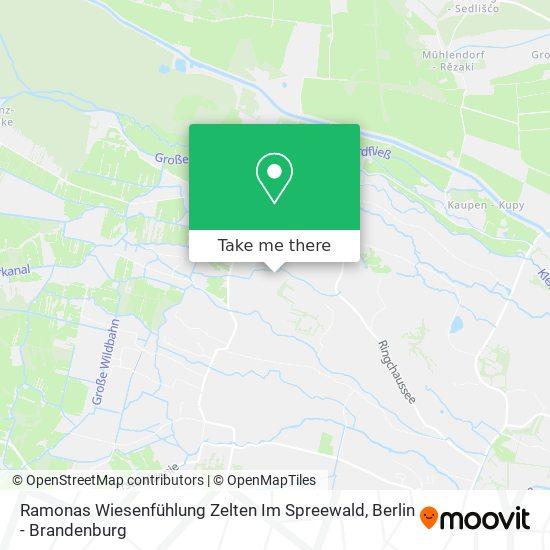 Карта Ramonas Wiesenfühlung Zelten Im Spreewald