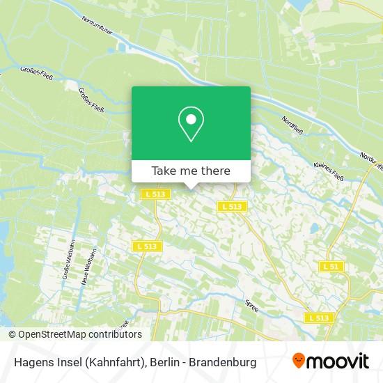 Карта Hagens Insel (Kahnfahrt)