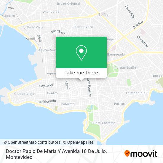 Doctor Pablo De María Y Avenida 18 De Julio map