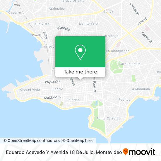 Eduardo Acevedo Y Avenida 18 De Julio map