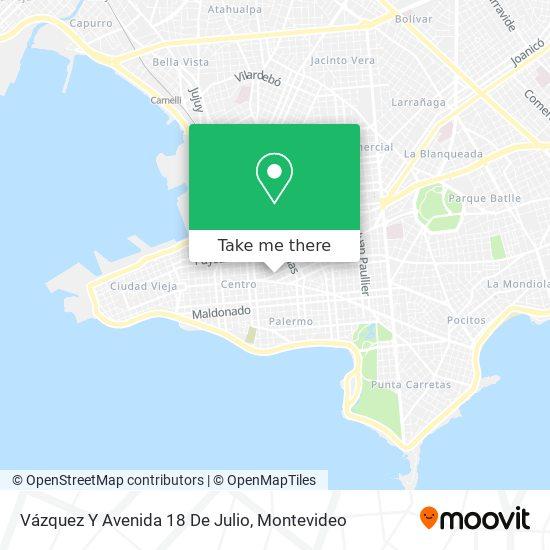 Vázquez Y Avenida 18 De Julio map