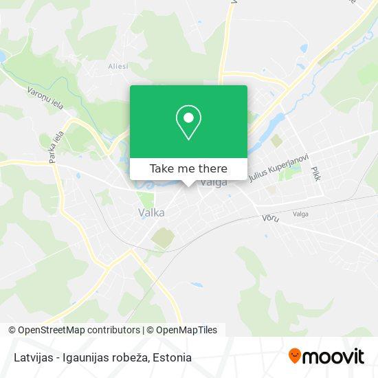 Latvijas - Igaunijas robeža map