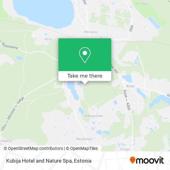 Карта Kubija Hotel and Nature Spa