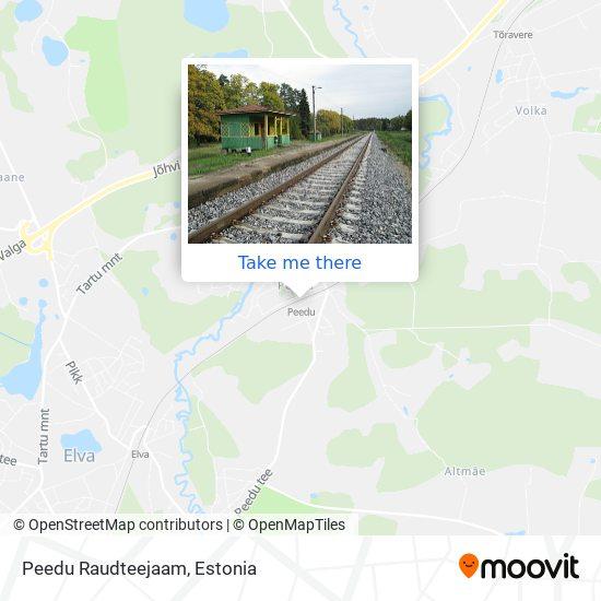 Peedu Raudteejaam map