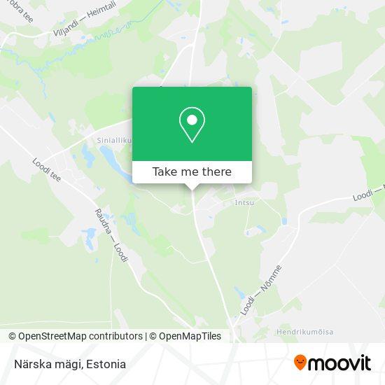 Närska mägi map
