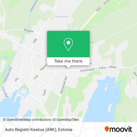 Auto Registri Keskus (ARK) map