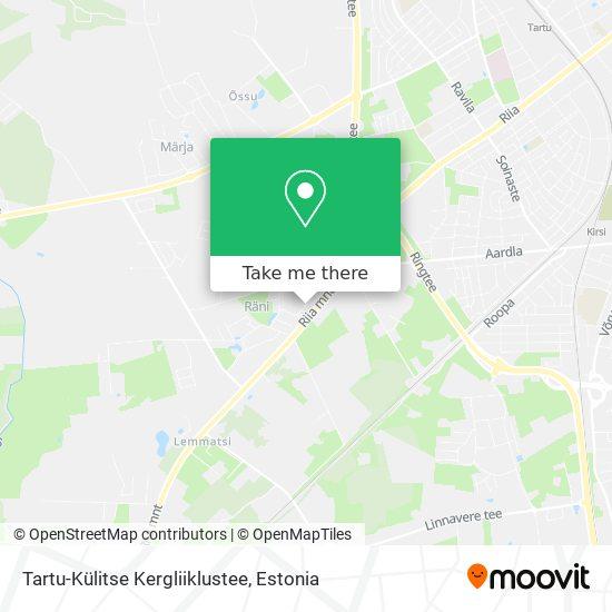 Tartu-Külitse Kergliiklustee map