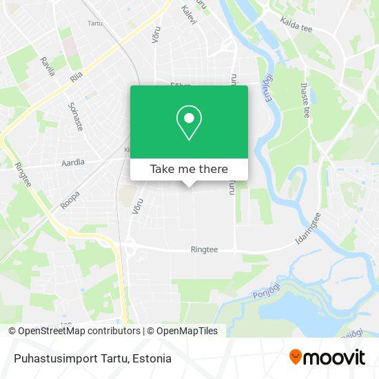 Puhastusimport Tartu map