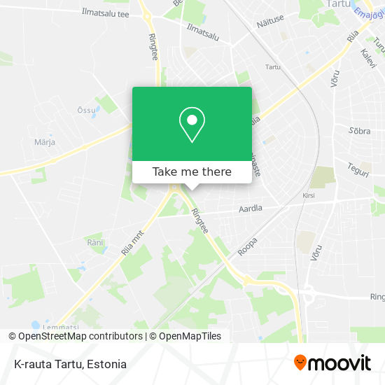 K-rauta Tartu map