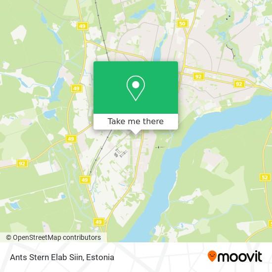 Ants Stern Elab Siin map