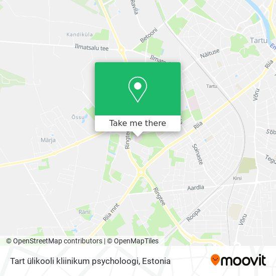 Tart ülikooli kliinikum psycholoogi map