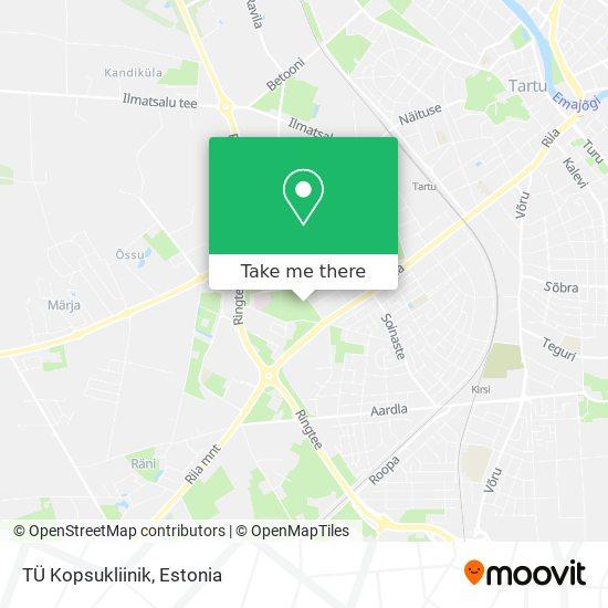 TÜ Kopsukliinik map