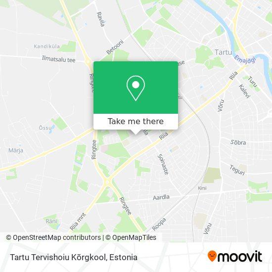 Карта Tartu Tervishoiu Kõrgkool