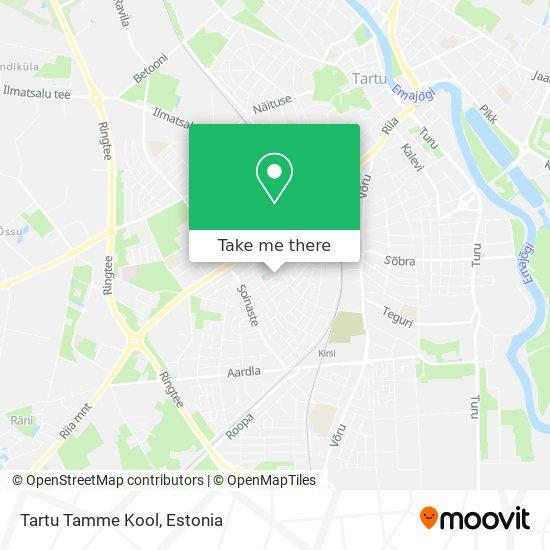 Tartu Tamme Kool map
