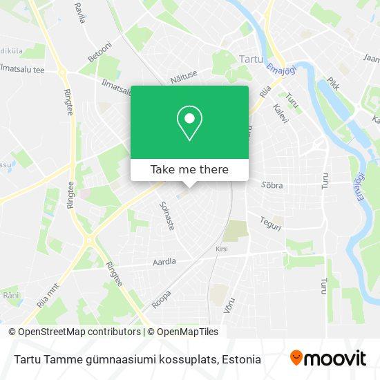 Tartu Tamme gümnaasiumi kossuplats map