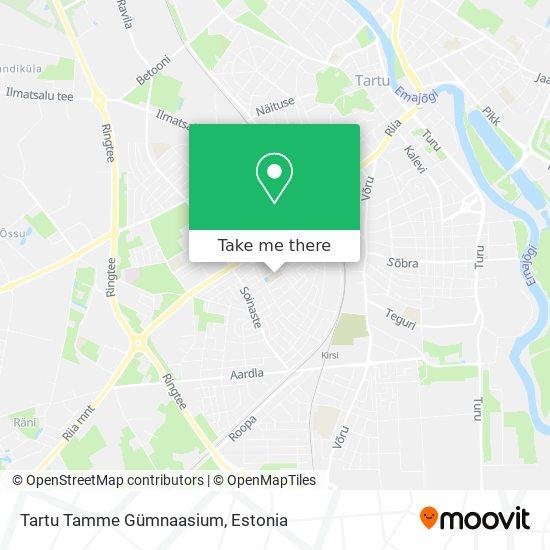 Tartu Tamme Gümnaasium map