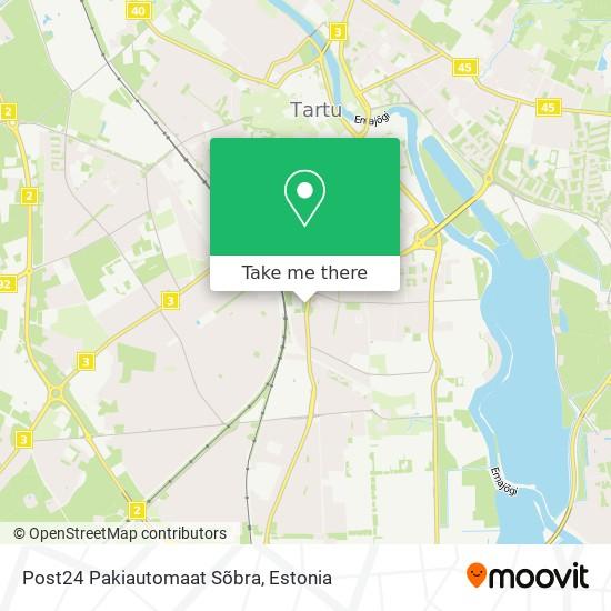 Post24 Pakiautomaat Sõbra map