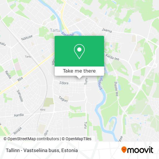 Tallinn - Vastseliina buss map
