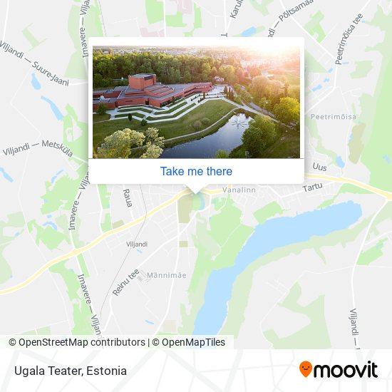 Ugala Teater map