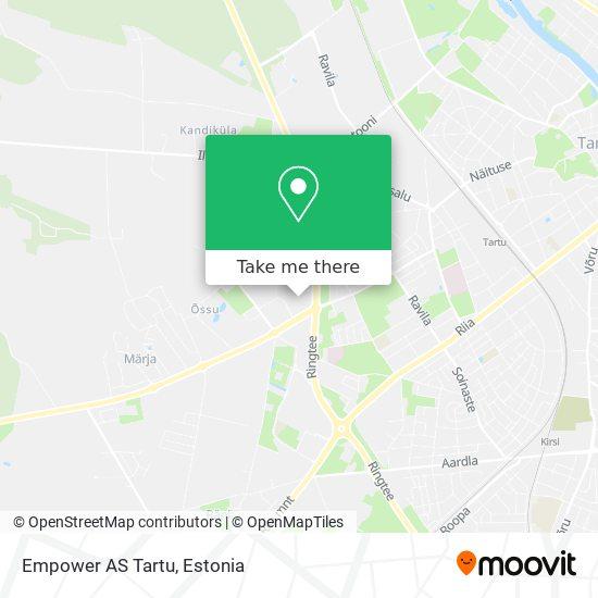 Empower AS Tartu map