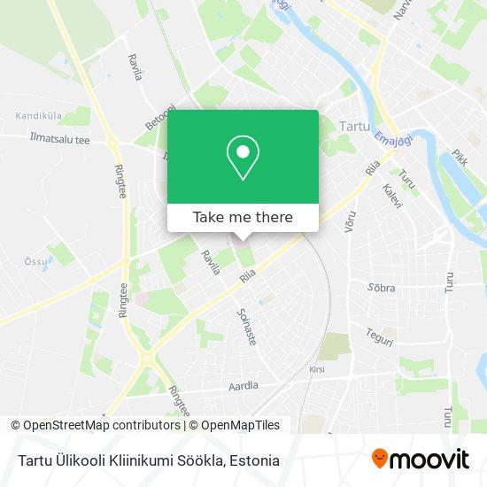 Tartu Ülikooli Kliinikumi Söökla map