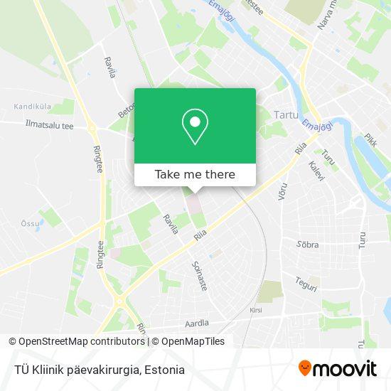 TÜ Kliinik päevakirurgia map