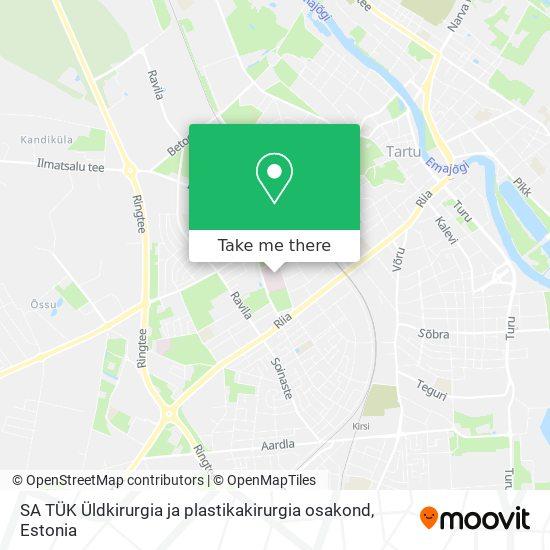 SA TÜK Üldkirurgia ja plastikakirurgia osakond map