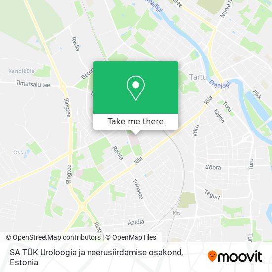 SA TÜK Uroloogia ja neerusiirdamise osakond map