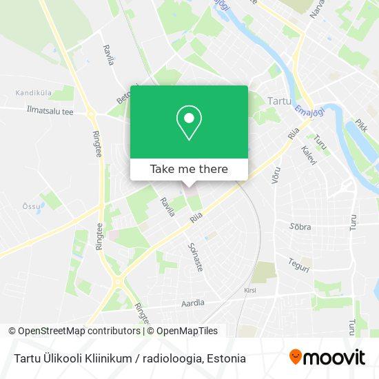 Tartu Ülikooli Kliinikum / radioloogia map